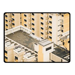 Apartments Architecture Building Double Sided Fleece Blanket (small)