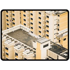 Apartments Architecture Building Double Sided Fleece Blanket (large)
