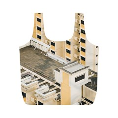Apartments Architecture Building Full Print Recycle Bags (m)