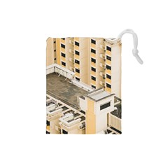 Apartments Architecture Building Drawstring Pouches (small)