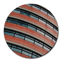 Architecture Building Glass Pattern Round Mousepads
