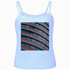 Architecture Building Glass Pattern Baby Blue Spaghetti Tank