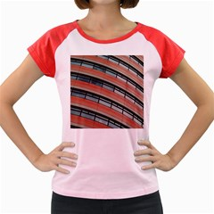 Architecture Building Glass Pattern Women s Cap Sleeve T-Shirt