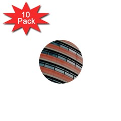Architecture Building Glass Pattern 1  Mini Buttons (10 pack)
