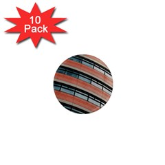 Architecture Building Glass Pattern 1  Mini Magnet (10 Pack)