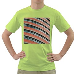 Architecture Building Glass Pattern Green T Shirt