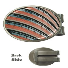 Architecture Building Glass Pattern Money Clips (oval)