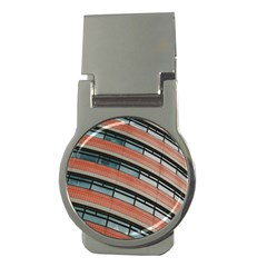 Architecture Building Glass Pattern Money Clips (round)