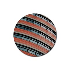 Architecture Building Glass Pattern Rubber Coaster (round)