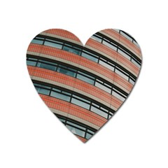 Architecture Building Glass Pattern Heart Magnet
