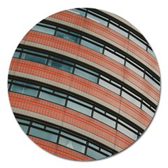 Architecture Building Glass Pattern Magnet 5  (round)