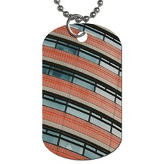 Architecture Building Glass Pattern Dog Tag (Two Sides)