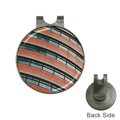 Architecture Building Glass Pattern Hat Clips With Golf Markers