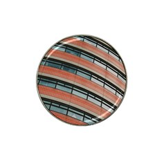 Architecture Building Glass Pattern Hat Clip Ball Marker (4 Pack)