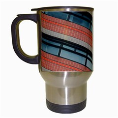 Architecture Building Glass Pattern Travel Mugs (white)