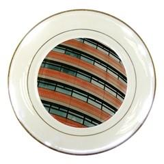 Architecture Building Glass Pattern Porcelain Plates