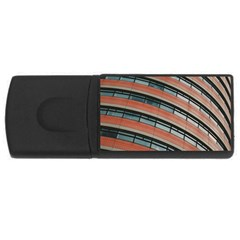 Architecture Building Glass Pattern Usb Flash Drive Rectangular (4 Gb)