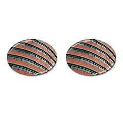 Architecture Building Glass Pattern Cufflinks (oval)