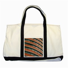 Architecture Building Glass Pattern Two Tone Tote Bag
