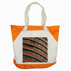 Architecture Building Glass Pattern Accent Tote Bag