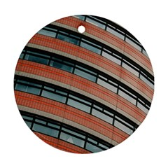 Architecture Building Glass Pattern Round Ornament (two Sides)