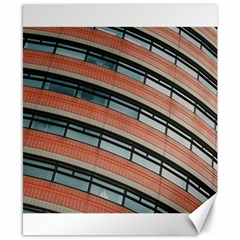 Architecture Building Glass Pattern Canvas 8  X 10