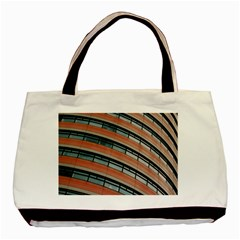 Architecture Building Glass Pattern Basic Tote Bag (two Sides)