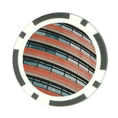 Architecture Building Glass Pattern Poker Chip Card Guard