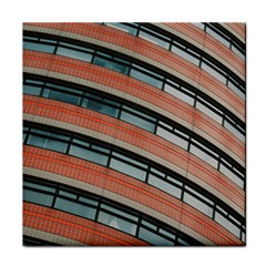 Architecture Building Glass Pattern Face Towel