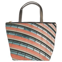 Architecture Building Glass Pattern Bucket Bags