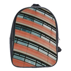 Architecture Building Glass Pattern School Bags(large)