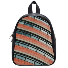 Architecture Building Glass Pattern School Bags (small)