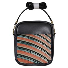 Architecture Building Glass Pattern Girls Sling Bags