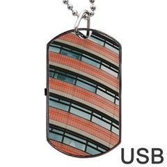 Architecture Building Glass Pattern Dog Tag Usb Flash (two Sides)