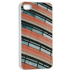 Architecture Building Glass Pattern Apple iPhone 4/4s Seamless Case (White)