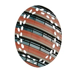 Architecture Building Glass Pattern Ornament (oval Filigree)