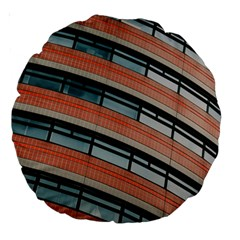 Architecture Building Glass Pattern Large 18  Premium Round Cushions