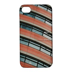 Architecture Building Glass Pattern Apple Iphone 4/4s Hardshell Case With Stand