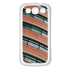Architecture Building Glass Pattern Samsung Galaxy S3 Back Case (white)