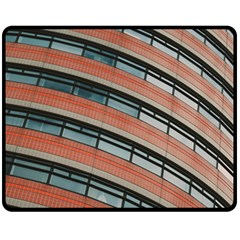 Architecture Building Glass Pattern Double Sided Fleece Blanket (medium)