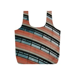 Architecture Building Glass Pattern Full Print Recycle Bags (s)