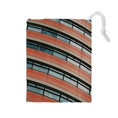 Architecture Building Glass Pattern Drawstring Pouches (large)