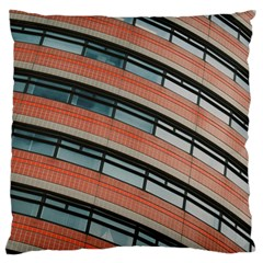 Architecture Building Glass Pattern Large Flano Cushion Case (two Sides)