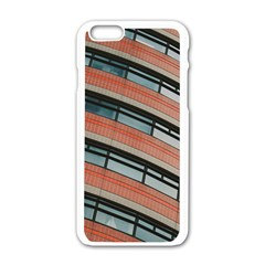 Architecture Building Glass Pattern Apple Iphone 6/6s White Enamel Case