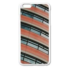 Architecture Building Glass Pattern Apple Iphone 6 Plus/6s Plus Enamel White Case
