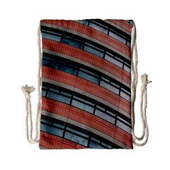 Architecture Building Glass Pattern Drawstring Bag (small)