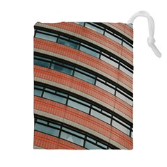 Architecture Building Glass Pattern Drawstring Pouches (extra Large)
