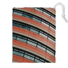 Architecture Building Glass Pattern Drawstring Pouches (xxl)