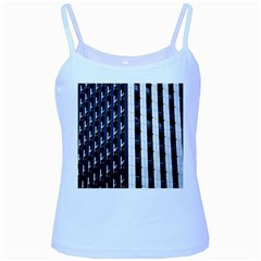 Architecture Building Pattern Baby Blue Spaghetti Tank