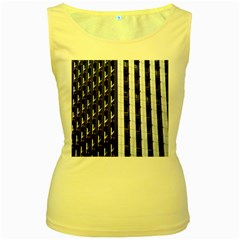 Architecture Building Pattern Women s Yellow Tank Top